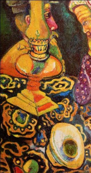 Cette nature morte à la lampe appartient à Chagall :