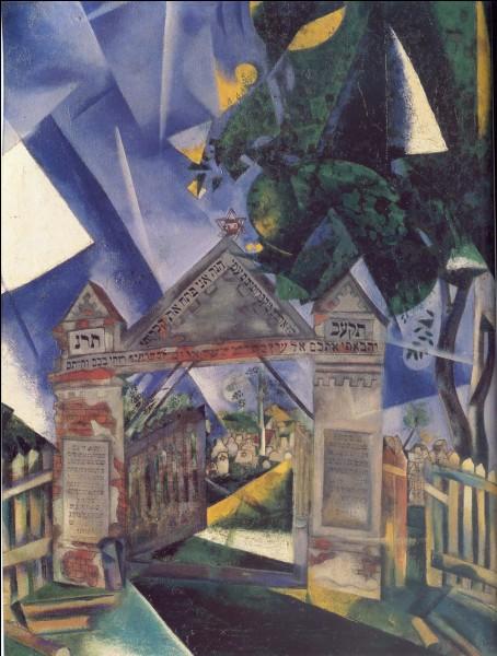 Chagall a représenté le cimetière de Vitebsk, village proche de son lieu de naissance en Pologne.