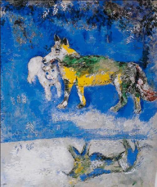 """Ceci est une illustration de la fable """"Le cheval et le chien"""", qu'il réalisa à la demande d'Ambroise Vollard en 1926."""