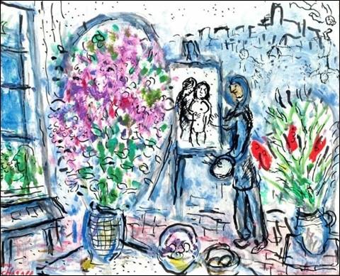 Voici une aquarelle représentant son atelier de Saint-Paul de Vence, ville où il est mort.