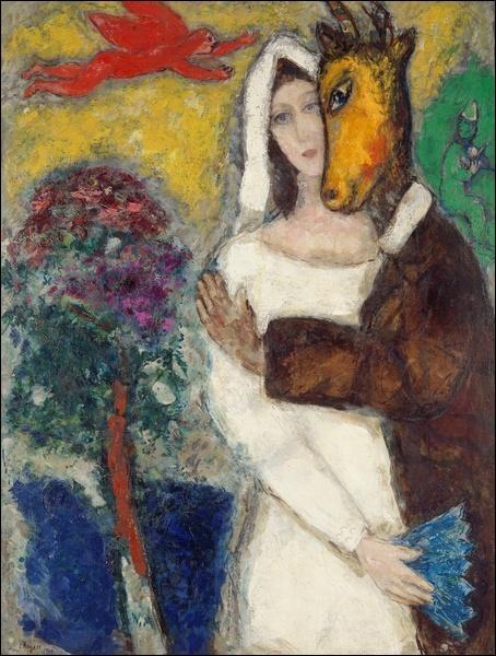"""Cette oeuvre de Chagall s'intitule """"Songe d'une nuit d'été"""" :"""