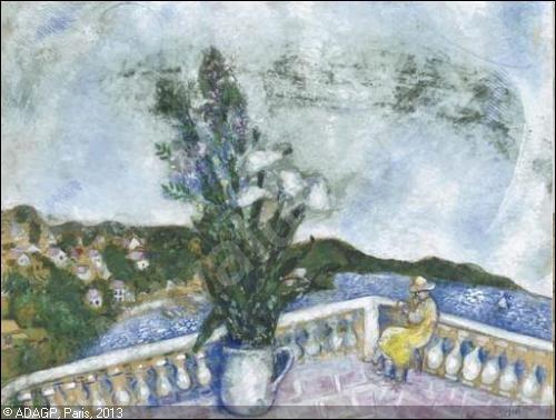 C'est Marc Chagall qui a peint cette oeuvre :