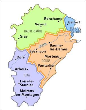 En quelle année la Franche-Comté fut-elle détachée de l'Empire germanique pour être rattachée à l'Espagne ?
