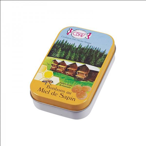La confiserie de Plainfaing, au cœur du massif des Vosges, vous offre cette boîte de bonbons. Vous trouverez cette confiserie, CDHV, dans la région...