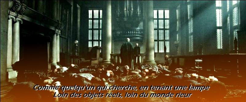 Potter profite de cette maladresse et pille la chambre forte des Lestrange. Voldemort est prévenu de l'effraction et ne peut qu'arriver à cette conclusion...