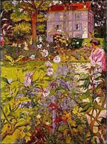 Quel peintre, faisant partie des fondateurs du mouvement nabi, a peint entre 1920 et 1936 ce tableau appelé ''Le Jardin de Vaucresson'' ?