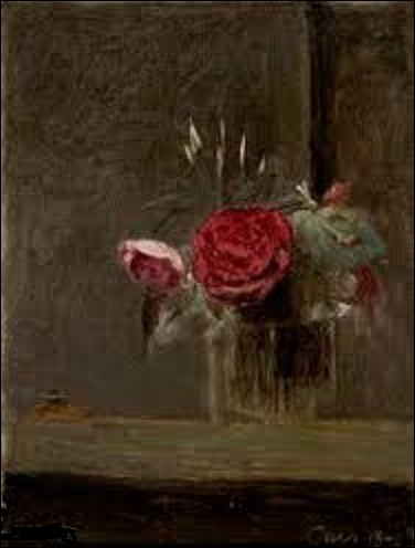Peinte en 1874, cette nature morte appelée ''Roses dans un verre'' est l'œuvre d'un peintre qui fut l'un des fondateurs de l'École de Barbizon. Quel est son nom ?