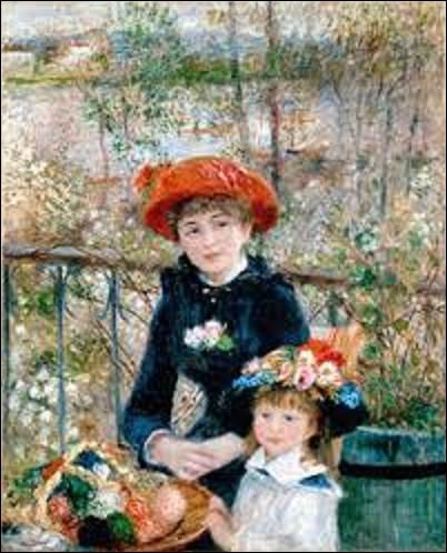 Mesurant 1 mètre de haut sur 0,81 m de large, ''Les Deux Sœurs'' est l'œuvre d'un peintre impressionniste datant de 1881. Qui a peint cette huile sur toile ?