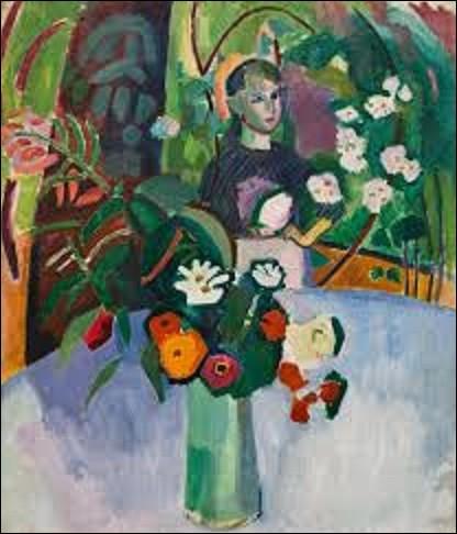 Représentant probablement Jeanne, l'une de ses jeunes sœurs, ''Jeanne dans les fleurs'' est une huile sur toile réalisée en 1907. Proche de l'impressionnisme par son thème, quel peintre également fauviste et cubiste a créé cette toile ?