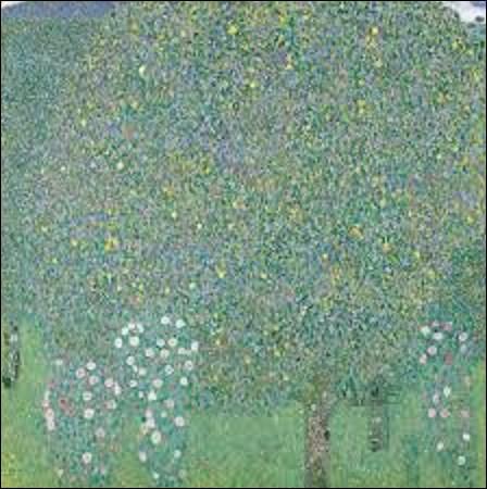 ''Rosiers sous les arbres'' est une huile sur toile réalisée vers 1905 par un artiste des mouvements Art nouveau et symbolisme. Il fut un peintre de compositions à personnages, sujets allégoriques, figures, nus, portraits, paysages. Il était aussi dessinateur, décorateur, céramiste, lithographe et peintre de cartons, de tapisseries, de cartons de mosaïques. Quel est son nom ?