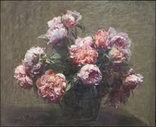 Restons un instant dans les natures mortes. En 1881, quel peintre réaliste a peint la toile appelée ''Vase de pivoines'' qui se trouve de nos jours à l'Honolulu Museum of Art ?