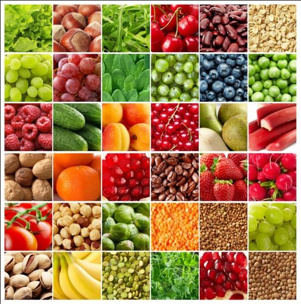 Dans le groupe des fruits et légumes, on trouve...