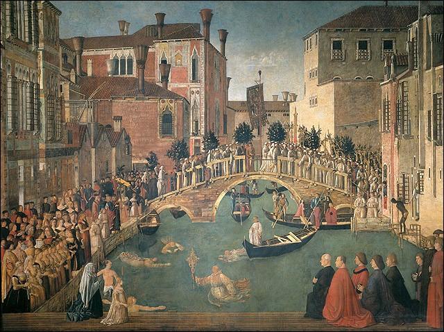 En direction de Rialto, vous passez sur un pont, lieu de l'un des miracles opérés par une relique de la Vraie Croix. Le nom du pont (et de tous les lieux à l'entour) est celui de [...], d'un saint martyr fêté le 10 août.