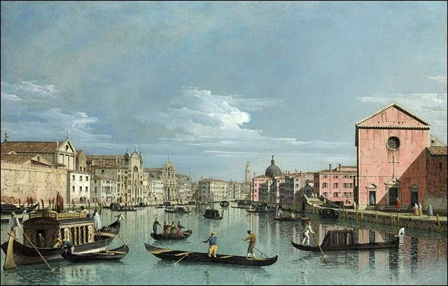 Votre embarcation navigue en direction sud (San Marco) et vous voilà déjà entré dans le Grand Canal ! Le capitaine attire votre attention vers le sestiere [...] à tribord, dont font partie les îles de Tronchetto et de Piazzale Roma.