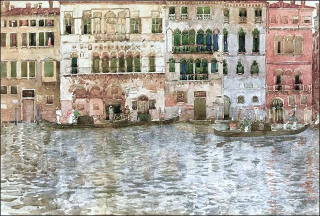 """À bâbord, vous apercevez de somptueux palais. Votre guide parle de style vénéto-byzantin, caractérisé par de grandes loggias avec des arches rondes ou allongées. Vous entendez """"Ca' Da Mosto"""". Ah ! du dialecte vénitien ! Mais quelle est la signification de """"Ca' """" ?"""