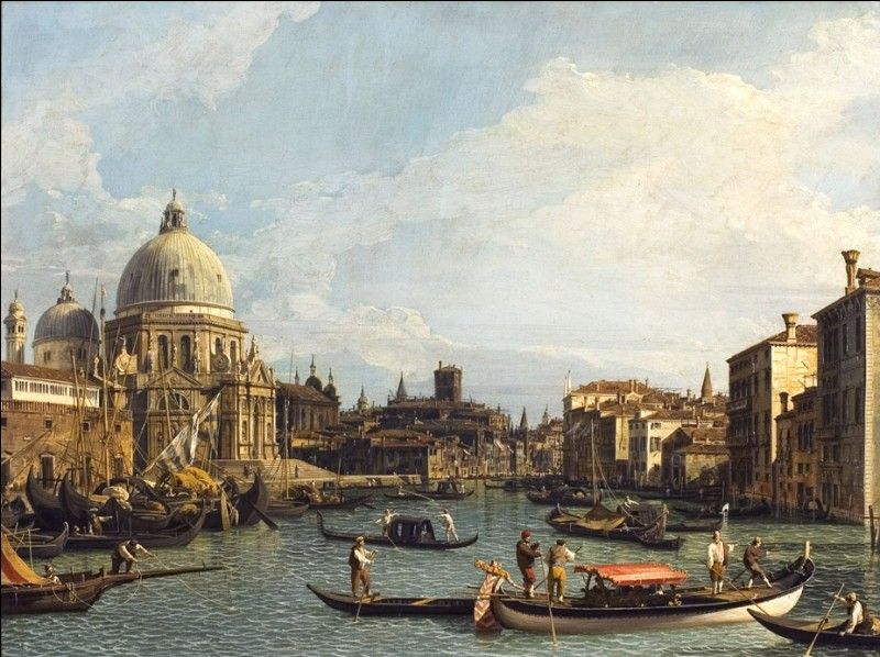 """Un voyageur - se présentant """"Giovanni Antonio Canal, mais tout le monde m'appelle Canaletto"""" - vous parle d'une magnifique basilique à tribord. Mais avez-vous retenu son nom ?"""