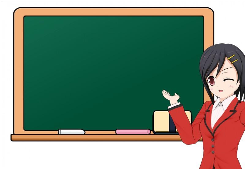 """On ne dit pas """"La maîtresse d'école"""", mais :"""