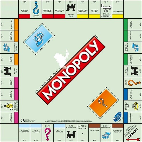 Au Monopoly, quelle est la case opposée à la case départ ?