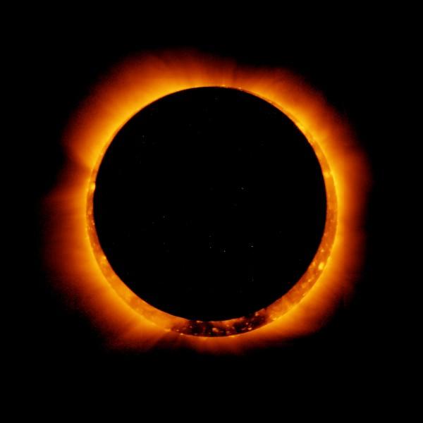 Comment s'appelle le fait que la Lune cache le Soleil ?