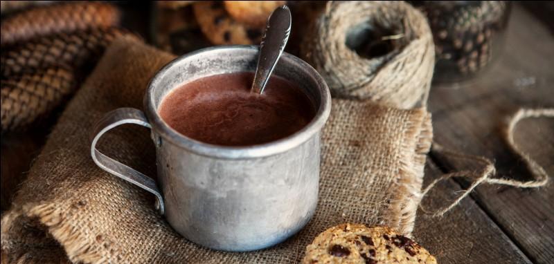 """Comment dit-on : """"Le matin, je bois du chocolat chaud."""" ?"""