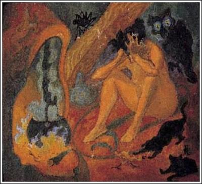 """Résultat de recherche d'images pour """"la sorcière au chaudron de paul ranson"""""""