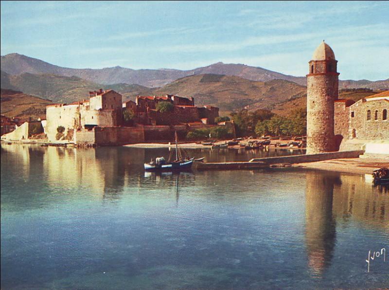 Chers amis ! Me voici dans un village que j'adore, ça fait plaisir de l'admirer autrement que sur les peintures de Matisse ou de Derain ! Le château est royal, c'est le cas de le dire ! Tout est beau, on ne voit pas un seul thon sur les plages, puisque c'est le pays des anchois ! On est tout près de l'Espagne ! Gros bisous de....