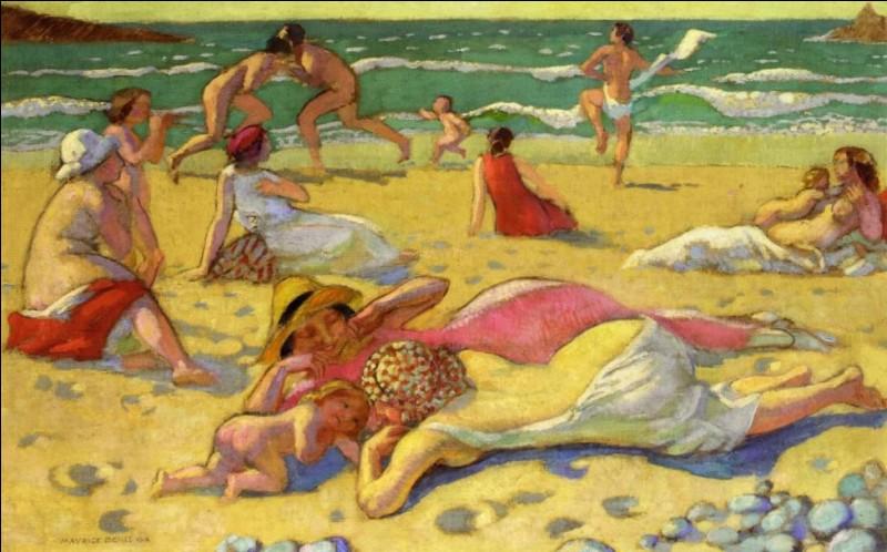 """Qui a peint """"Jeux dans le sable"""" ?"""