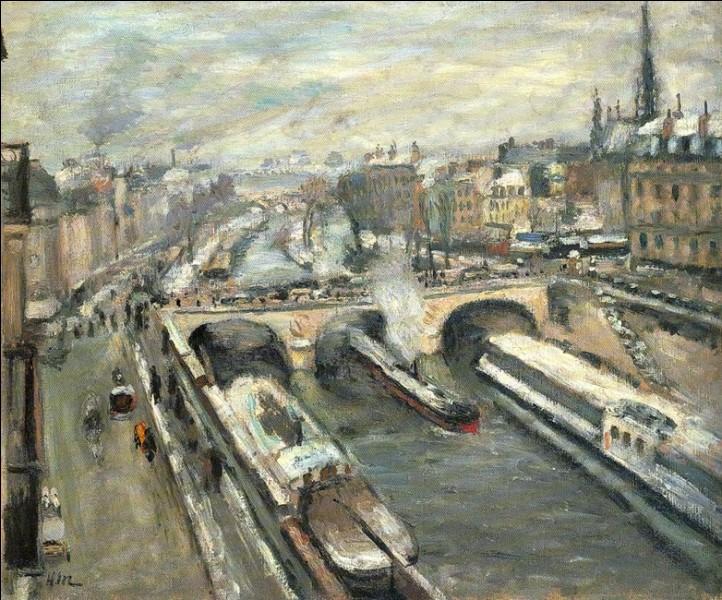 """""""Pont Saint Michel, Paris"""", vers 1900.Son créateur, Henri Matisse, est représenté par 8 œuvres dans la salle VII de ce fameux salon de Paris questionnée ci-dessus. Mais quels autres artistes y sont représentés ?"""