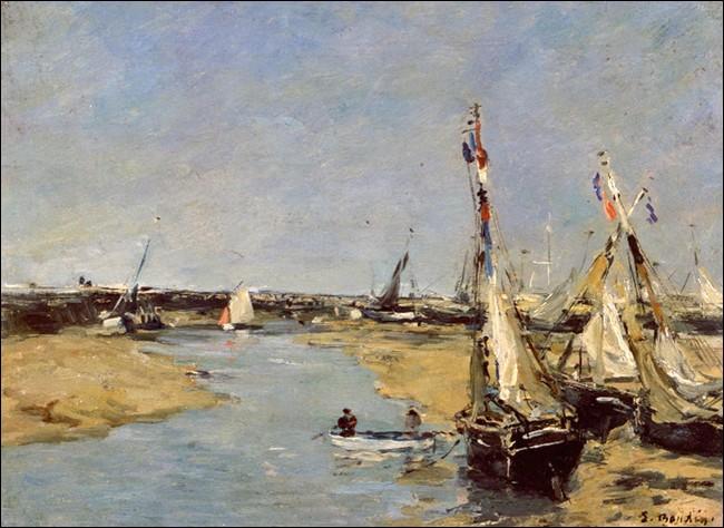 """Impressionniste de première heure, il initie Claude Monet à la peinture. Son œuvre """"Trouville, les jetées, marée basse"""" date de 1883/87. De qui s'agit-il ?"""