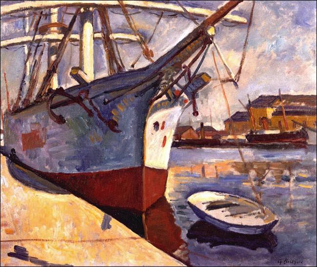 """Le pas décisif vers la maîtrise est franchi : l'œuvre est à la fois un adieu à l'impressionnisme en même temps que l'annonce du fauvisme. Quel artiste trouve avec """"Bâteau au Havre"""" (1905) sa palette caractéristique de cette période de création, composée de bleu clair, d'orange et de tons ocre ?"""