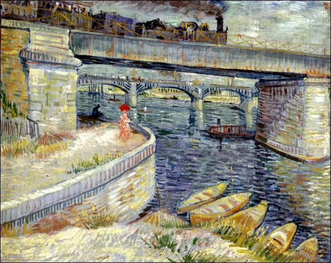 """Impressionné par un nouveau procédé appelé """"pointillisme"""", van Gogh maîtrise la technique de la peinture en plein air, dans la lumière éclatante du soleil. Peinte en été 1887 (exposé à Arles, Fondation Vincent van Gogh, jusqu'au 17.9.17), comment cette toile s'appelle-t-elle ?"""