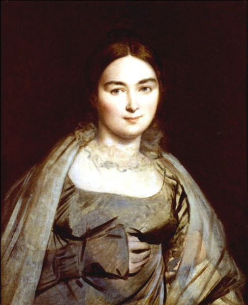 """Sa maxime : """"Le meilleur moyen de posséder une femme, c'est encore de la peindre.""""Son portrait : """"Madame J.A.D. Ingres, née Madeleine Chapelle"""" (1814)"""