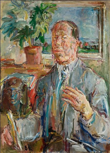 """Sa maxime : """"L'héritage du baroque, c'est ce que j'ai repris.""""Son portrait : """"Emil Bührle"""" (1951/52)"""