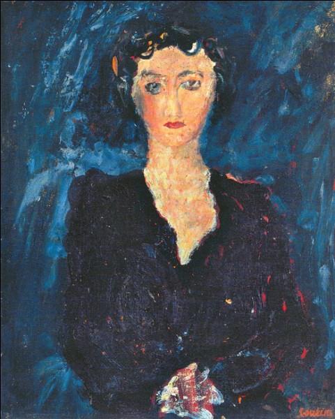 """Sa maxime : """"J'aime peindre sur une chose lisse, j'aime quand mon pinceau glisse.""""Son portrait : """"Portrait de femme"""" (1928)"""