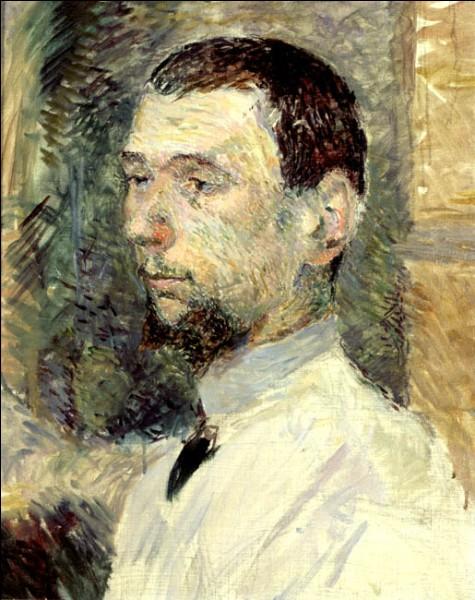 """Sa maxime : """"La peinture, c'est comme de la merde, ça se sent, mais ne s'explique pas.""""Son portrait : """"François Gauzi"""" (1886)"""