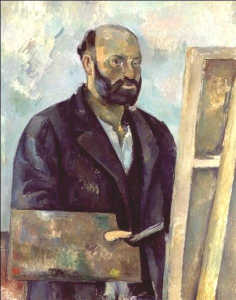 """Sa maxime : """"Pour l'artiste, voir c'est concevoir, et concevoir c'est composer.""""Son portrait : """"Autoportrait avec palette"""" (1890)"""