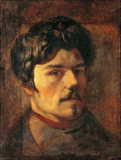"""Sa maxime : """"Le premier mérite d'un tableau est d'être une fête pour l'œil.""""Son portrait : """"Autoportrait"""" (1830/35)"""