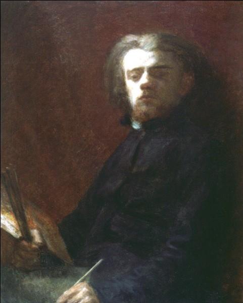 """Sa maxime : """"Je veux faire des chefs-d'œuvre, il n'y a rien d'autre.""""Son portrait : """"Autoportrait"""" (1861)"""