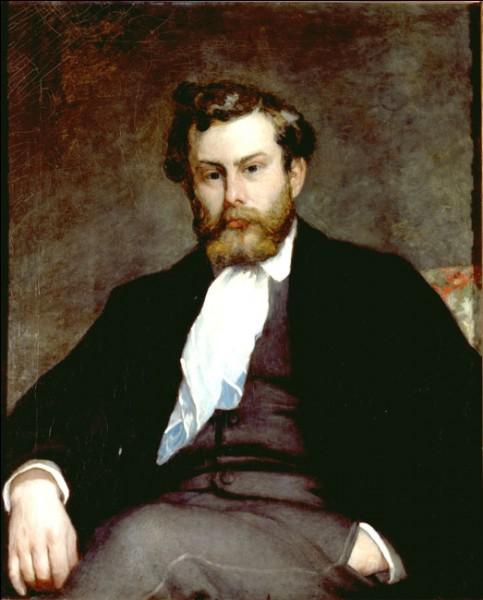 """Sa maxime : """"On ne dit jamais """"je serai peintre"""" devant un beau site, mais devant un beau tableau."""" Son portrait : """"Alfred Sisley"""" (1864)"""
