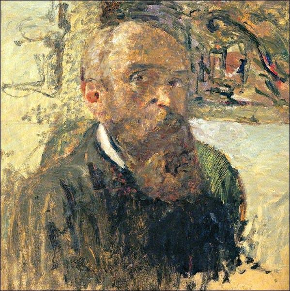 """Sa maxime : """"Une forme, une couleur n'existe que par rapport à une autre. La forme seule n'existe pas.""""Son portrait : """"Autoportrait"""" (1906 c.)"""