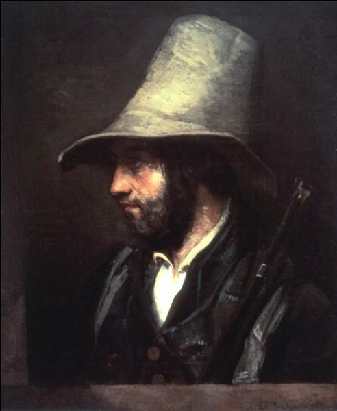 """Sa maxime : """"L'État est incompétent en matière d'art.""""Son portrait : """"Portrait de chasseur"""" (1858)"""