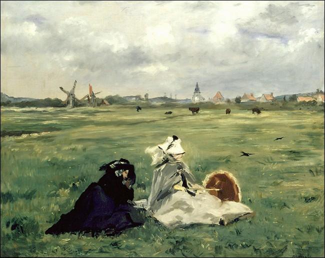 """Sa maxime : """"La vérité est que l'art doit être l'écriture de la vie.""""Sa scène de genre : """"Les hirondelles"""" (1873)"""