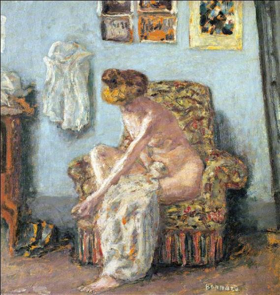 """Sa maxime : """"La beauté, c'est la satisfaction de la vision.""""Sa scène de genre : """"Femme à sa toilette"""" (1905 c.)"""