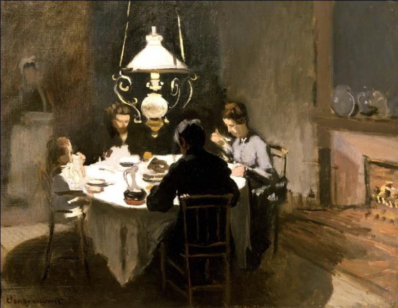 """Sa maxime : """"La couleur est mon obsession quotidienne, ma joie et mon tourment""""Sa scène de genre : """"Le dîner"""" (1868/9)"""