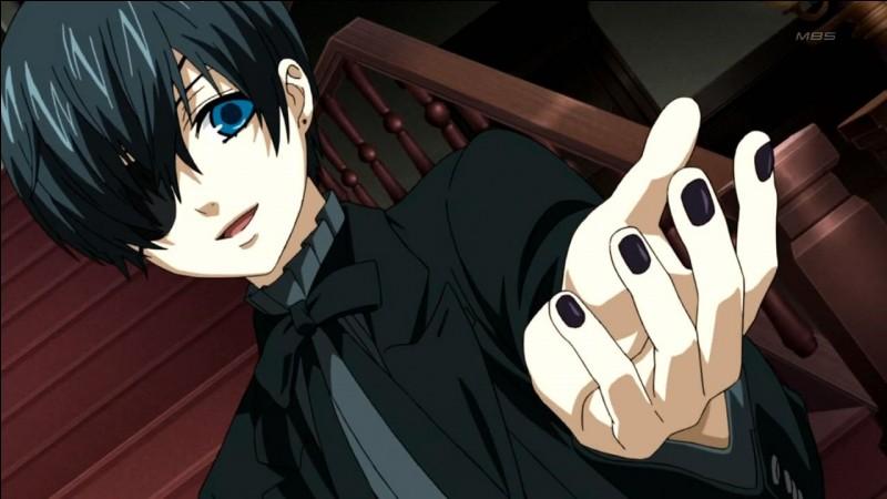 """En voyant les yeux de Ciel Phantomhive, j'en suis venue à me demander pourquoi le manga s'appelait """"Black Butler"""" au lieu de """"Blue Butler"""". Quel titre lui attribut-on ?"""
