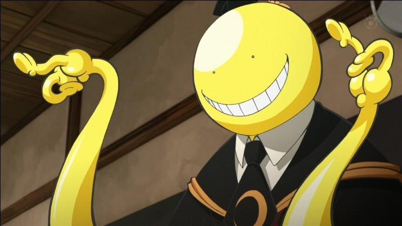 """Quand on a comme professeur Koro-sensei, les cours peuvent être amusants. Vous qui aimez """"Assassination Classroom"""", quelle est la classe de Koro-sensei ?"""