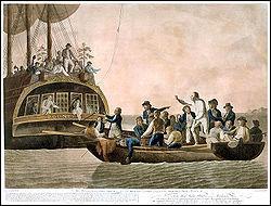 A bord d'une frégate Anglaise commandée par William Bligh eut lieu une mutinerie en 1789, sur quel navire ?
