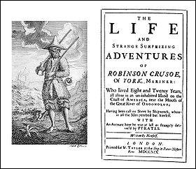 En 1719, est publié le roman Vie et aventures de Robinson Crusoé, de qui ?