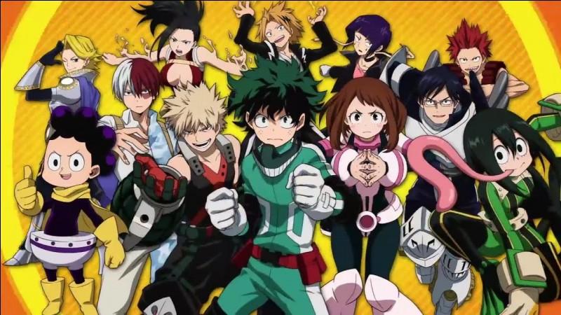 """Passons à """"Boku no Hero Academia"""". Quel est le thème commun avec les noms des étudiants ?"""