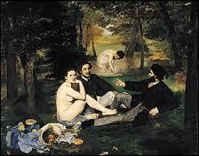 """Qui a peint ce tableau intitulé """"Le Déjeuner sur l'herbe"""" ?"""